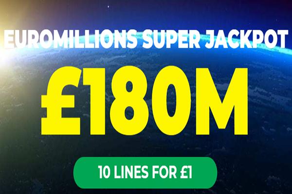 £180 Million Jackpot Lotto Social